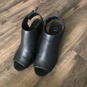 Open toe booties from the Gap